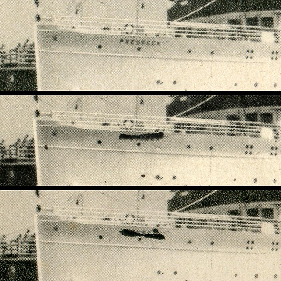 ASK 33, retusz nazwy statku