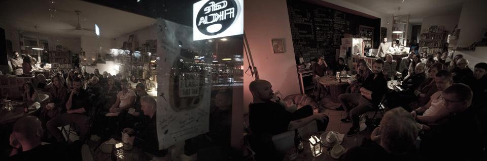 Promocja albumu w Cafe Fikcja we Wrzeszczu (fot. Jerzy W. Wołodźko)