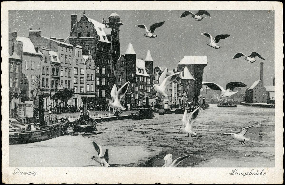 Czarnecki - pocztówka drukowana z fotomontażem i retuszem śniegu